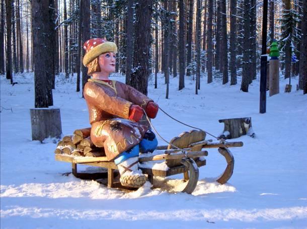 Вотчина Деда Мороза в Великом Устюге Емеля дурачок фото