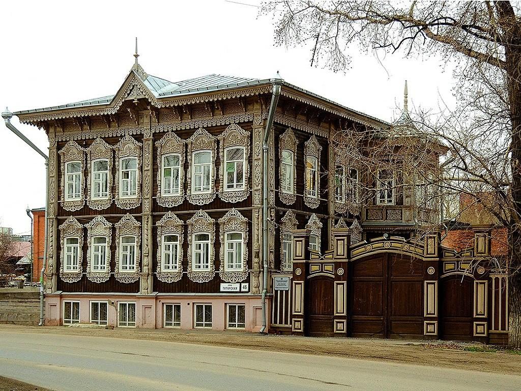 Памятник деревянного зодчества Томска фото