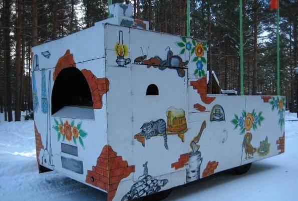 Вотчина Деда Мороза в Великом Устюге печь фото