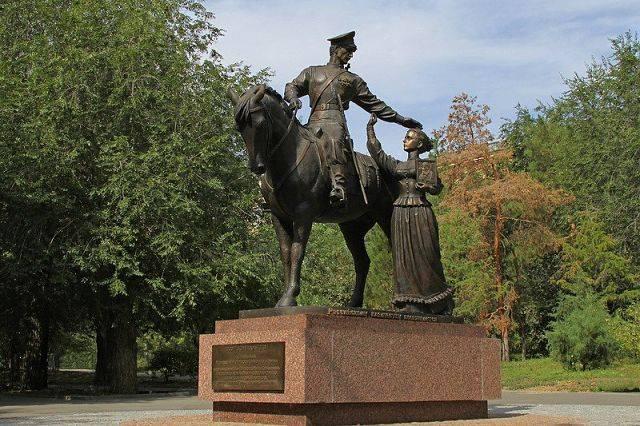 Памятник Казачьей славы Волгоград достопримечательности фото