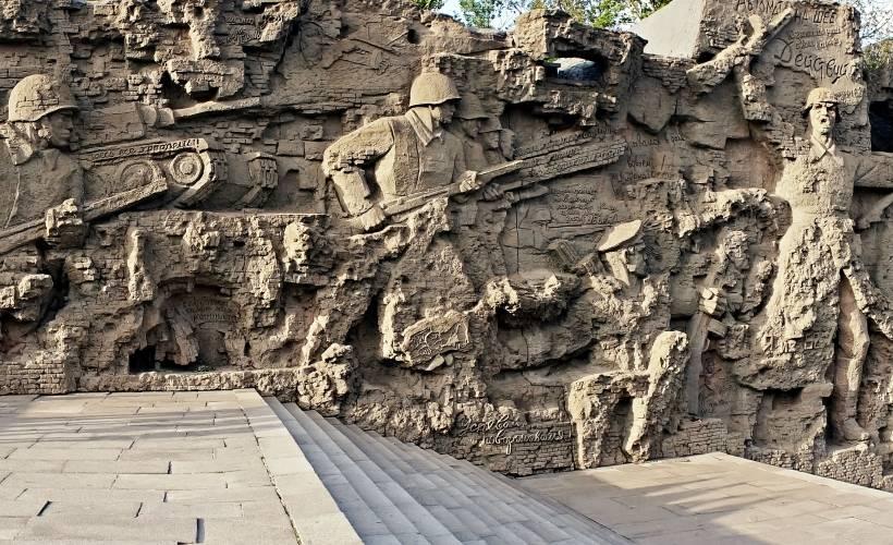 Стены-руины на Мамаевом кургане фото