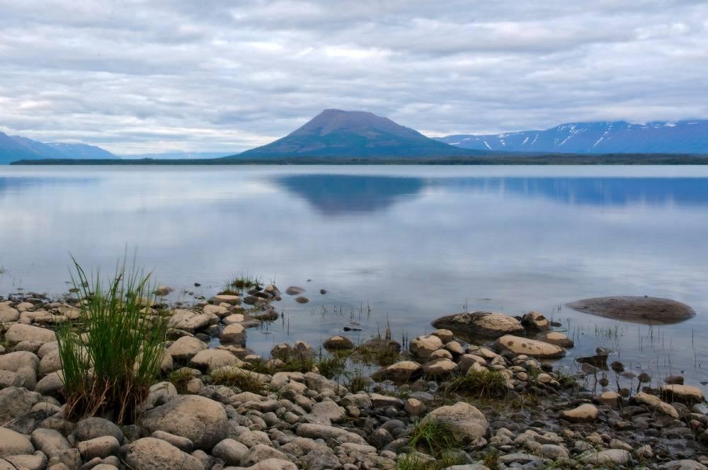 Озеро Таймыр в Восточной Сибири фото